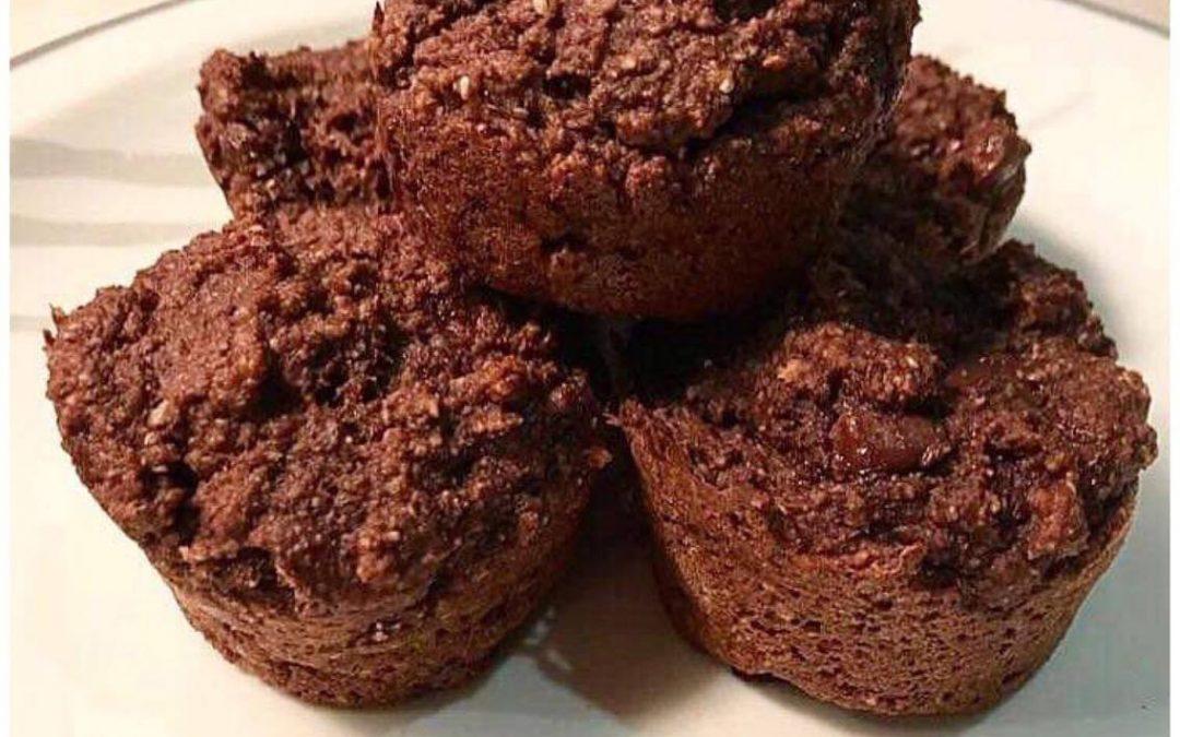 Muffins Double Chocolat sans Lactose et sans Gluten